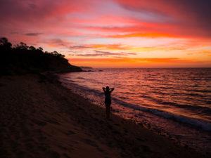 Sonnenuntergang in Melburne