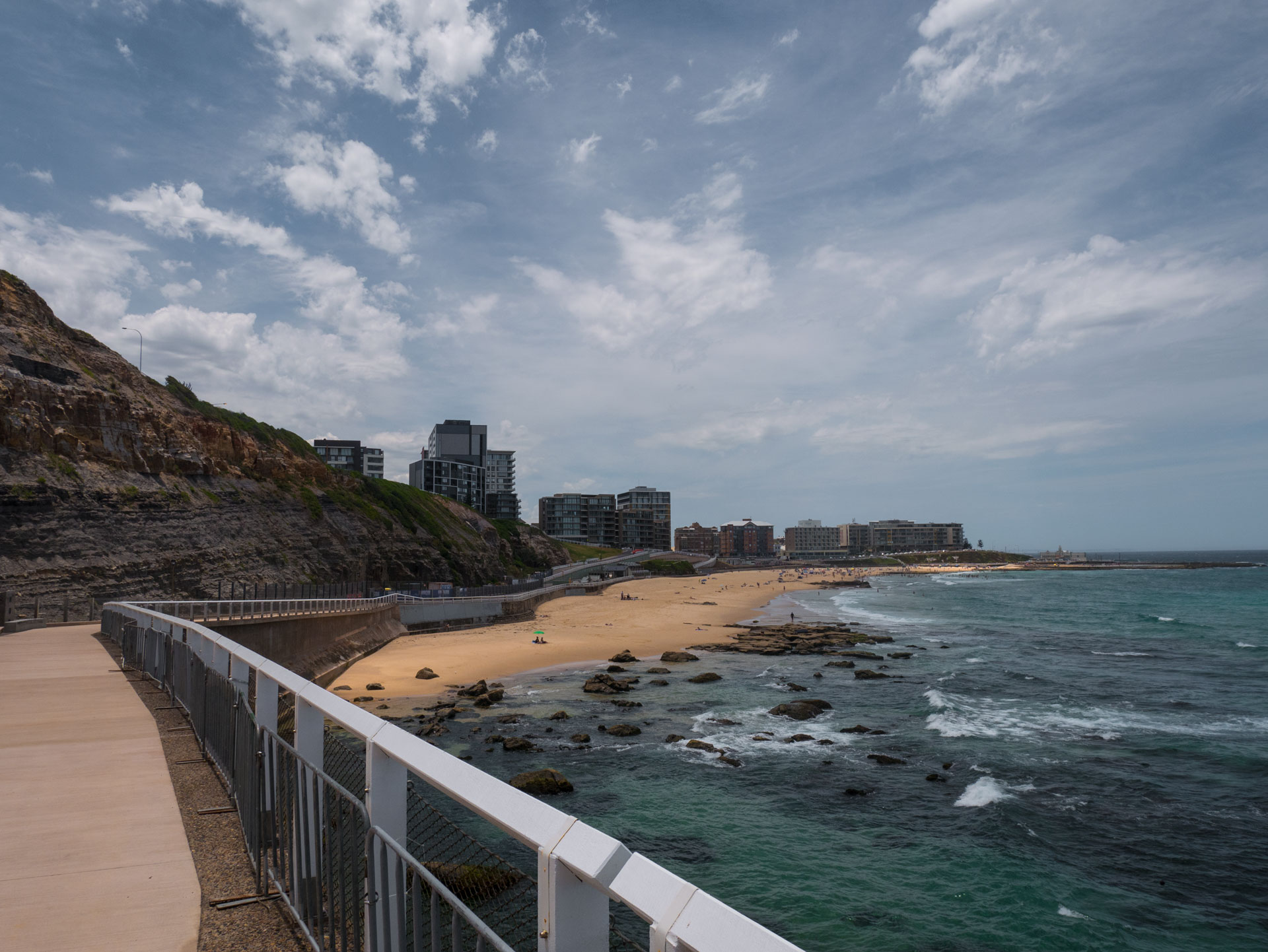 Der Strand von Newcastle war einer meiner ersten Stops auf meinem Roadtrips von Sydney nach Brisbane