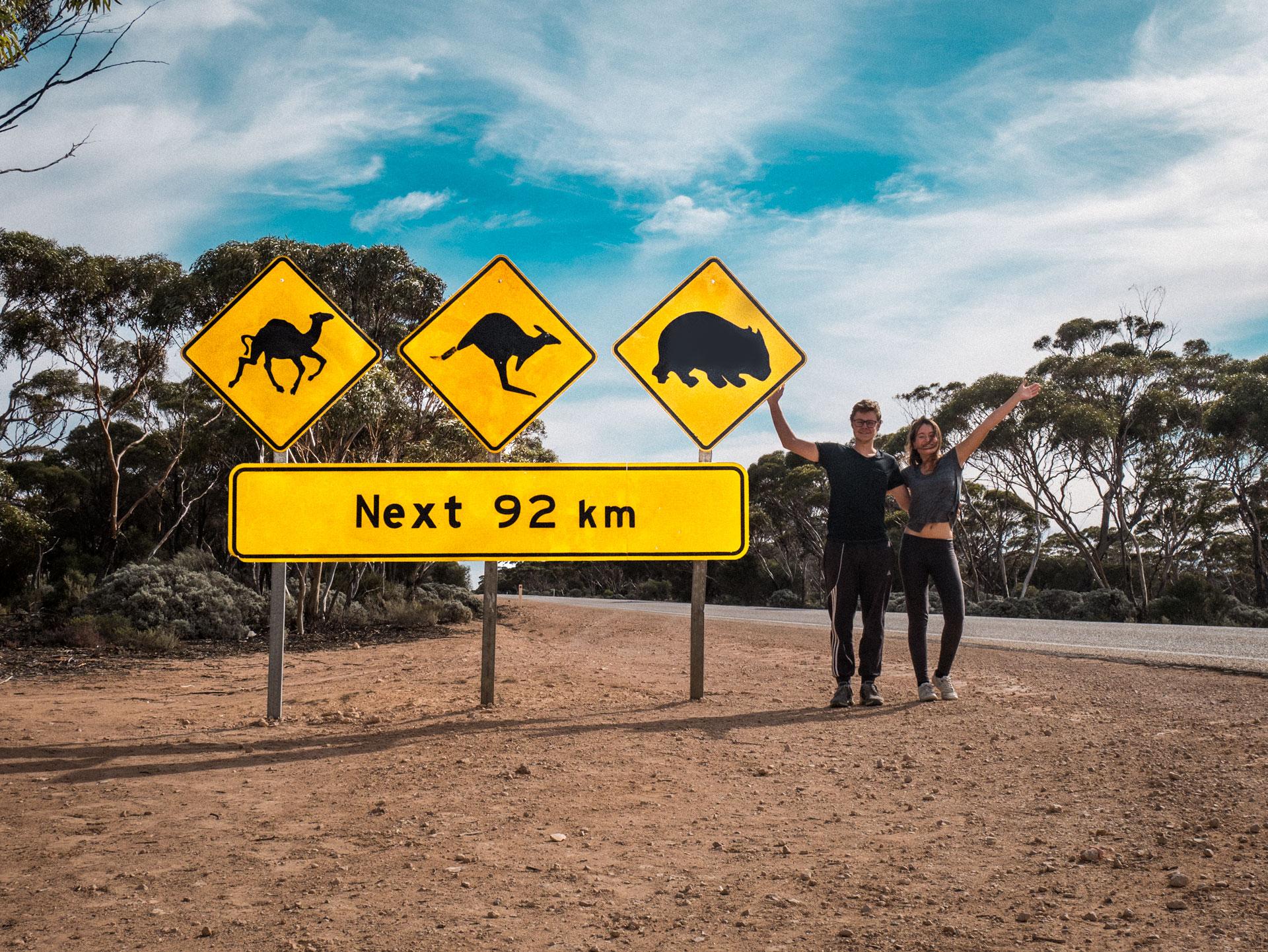 Ein Bucketlist-Moment: Ein Bild vor dem berühmten Schild in South Australia