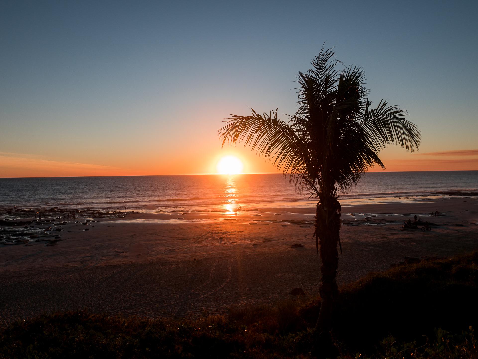 die schönsten Sonnenuntergänge der Westküste hatten wir in Broome