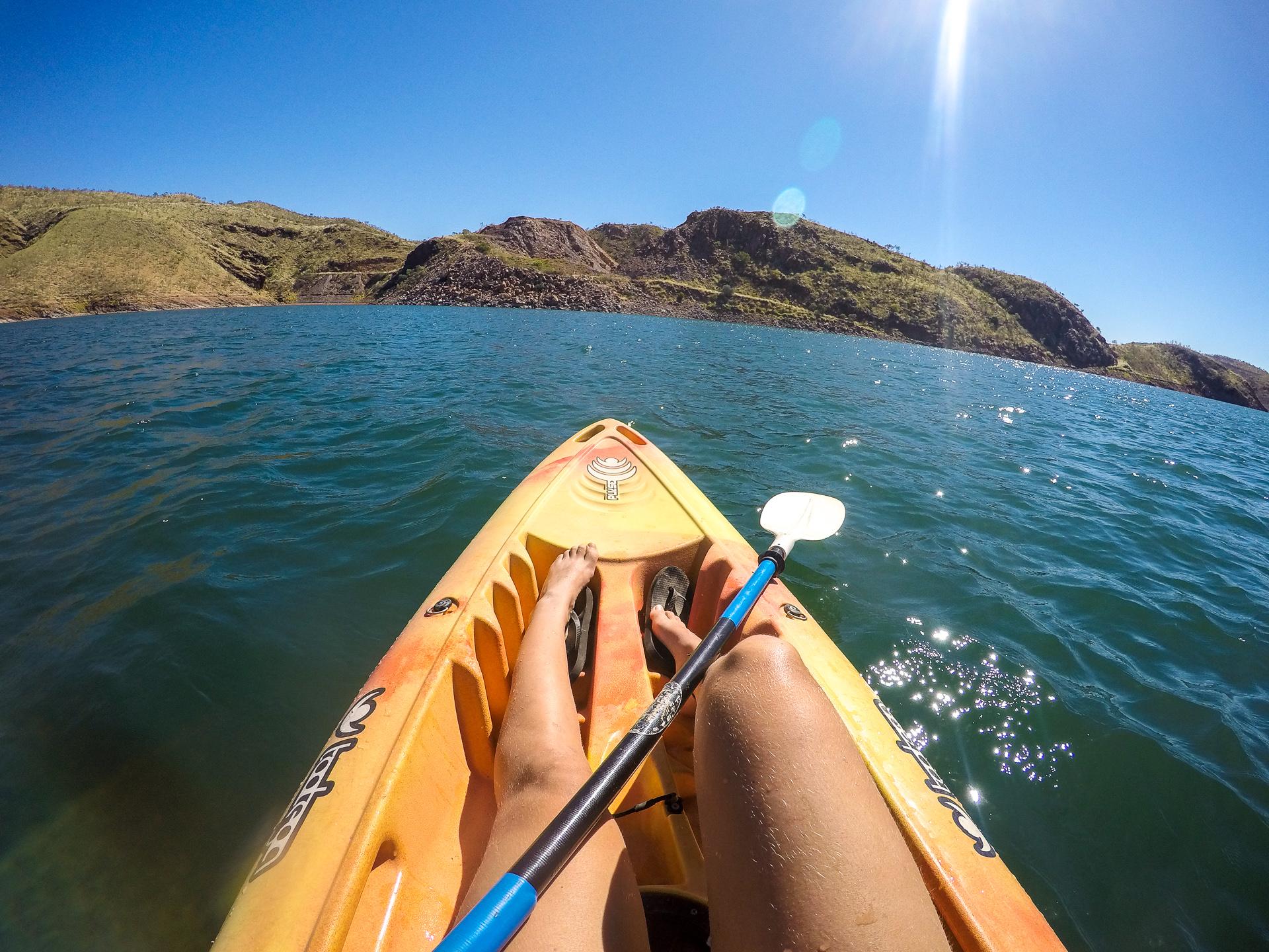 Lake Argyle mit dem Kanu
