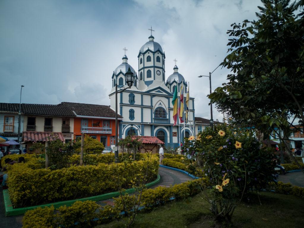 der plaza bolivar in Filandia