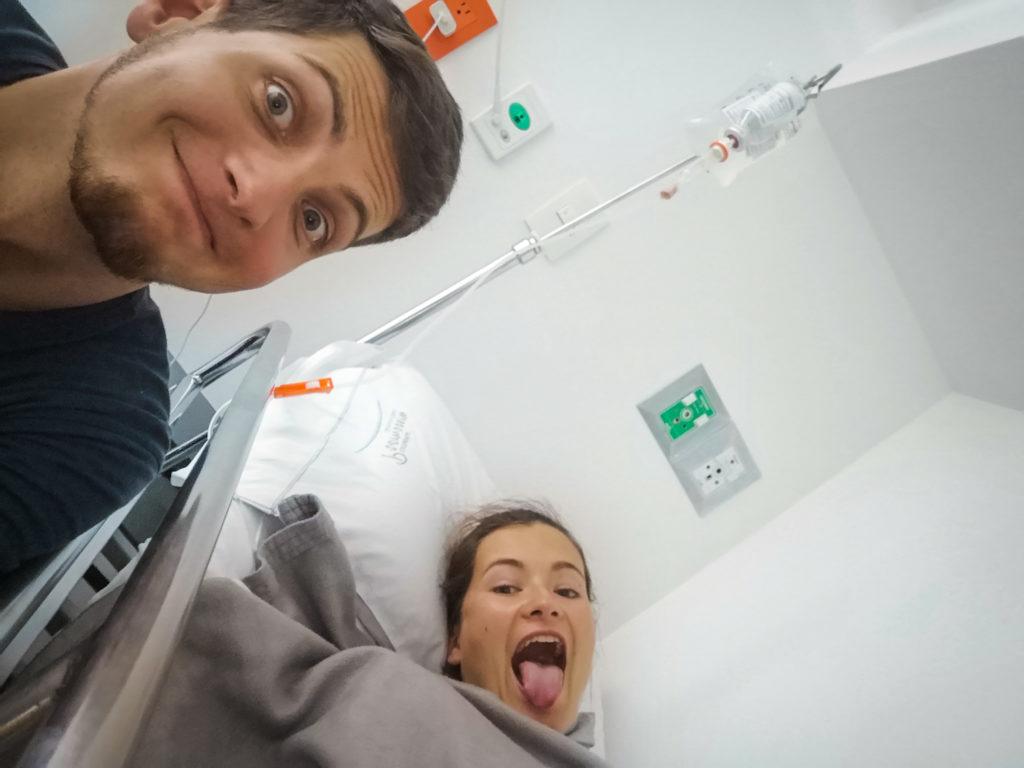 Ich habe Spaß im Krankenhaus