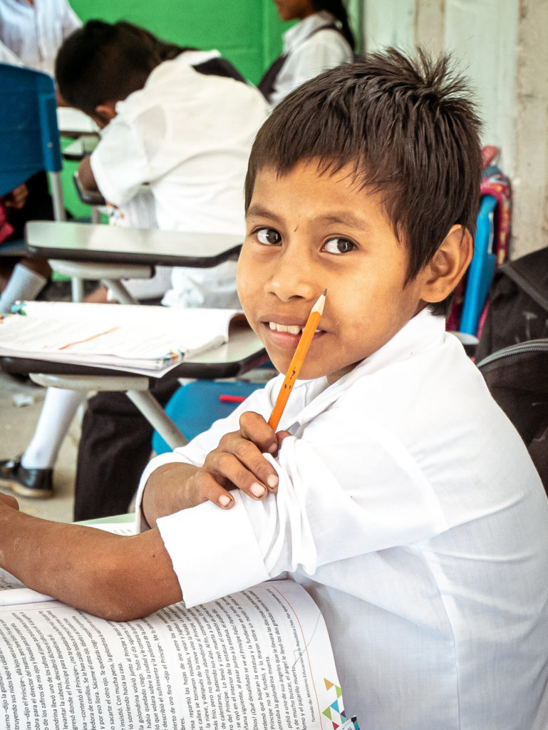 Ein Kind der 4. Klasse